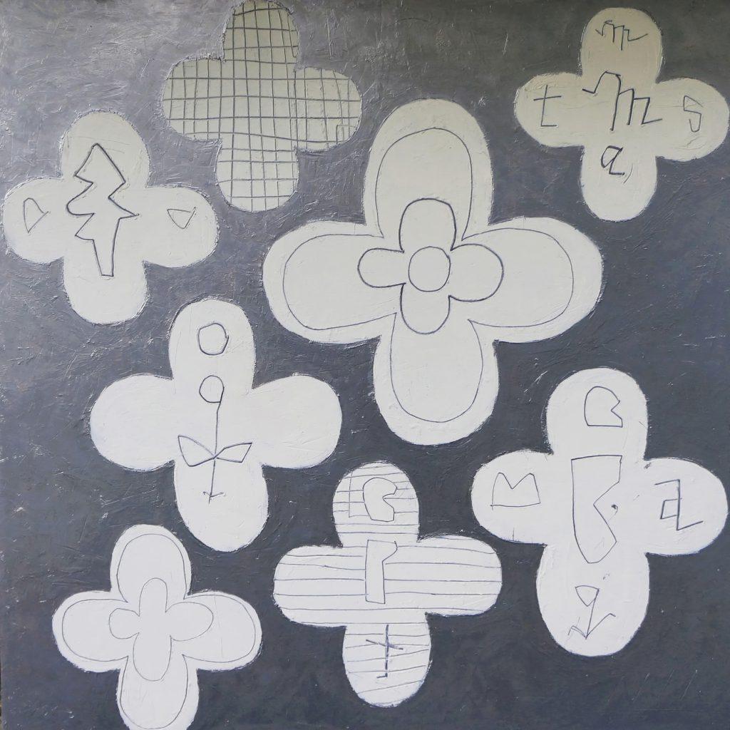 「銀の花」オイルペイント作品
