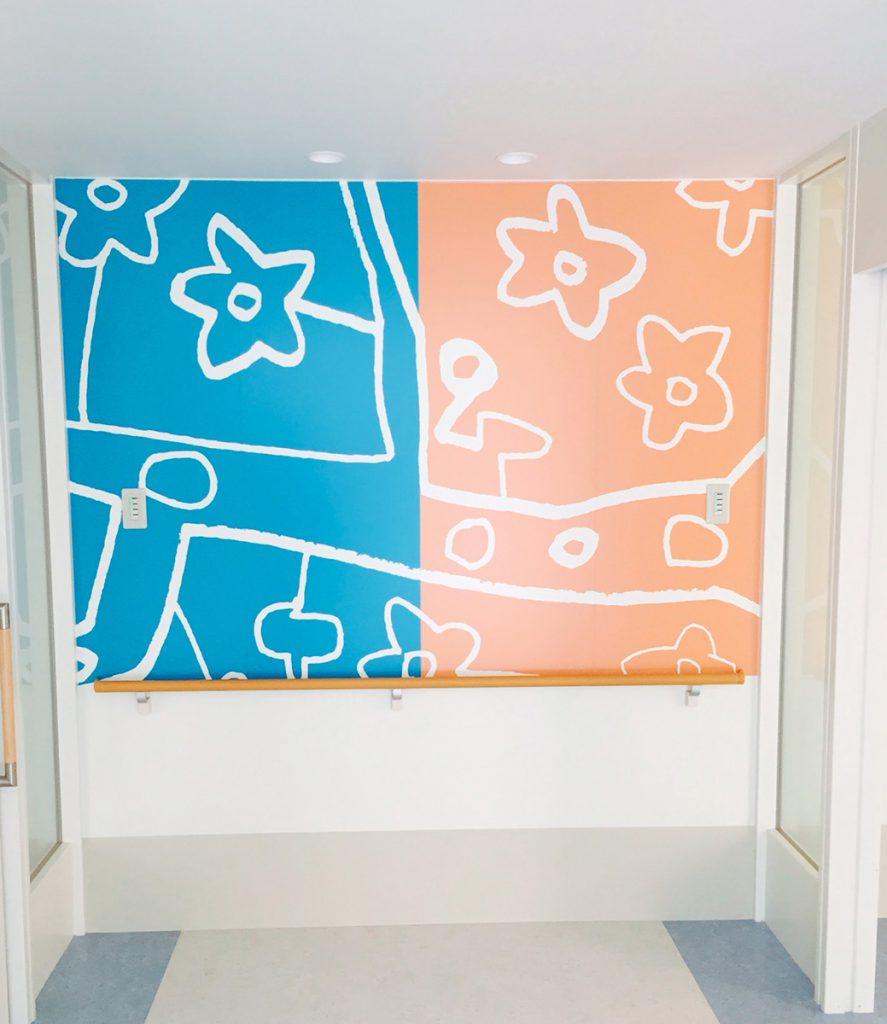 病院の壁面アート